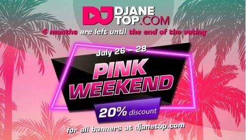 Image publishing: NEXT PINK WEEKEND IS COMING JULY 26-28!